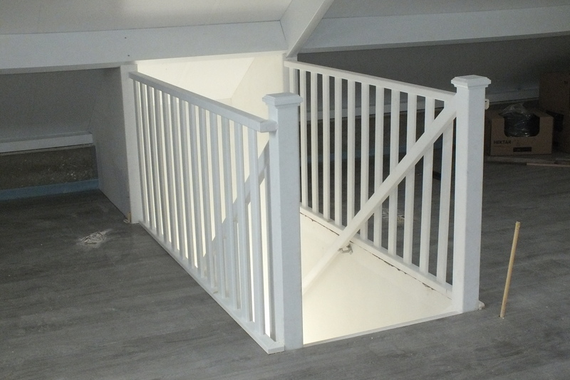 2 trappen nieuwbouw in st jansteen trappen totaal for Trapgat maken in beton